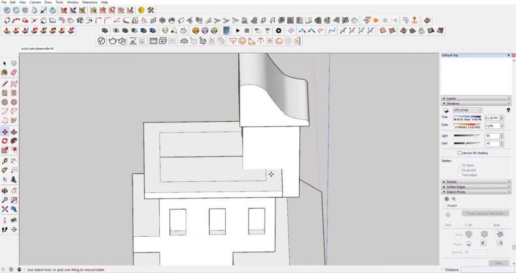 adding details to Sketchup speed model