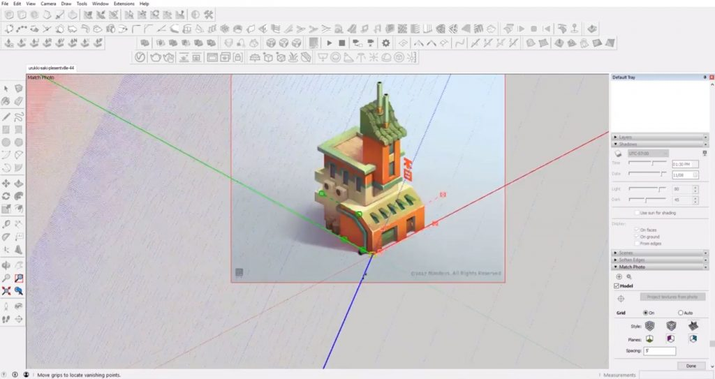 import image to Sketchup speed model