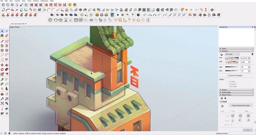 block out shapes in Sketchup speed model