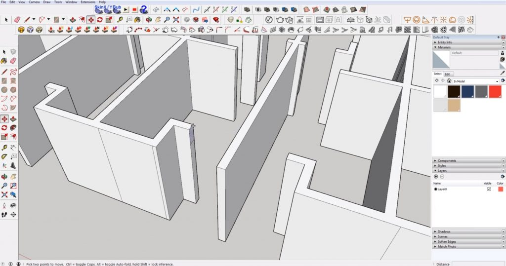 draw door header in DWG to 3D