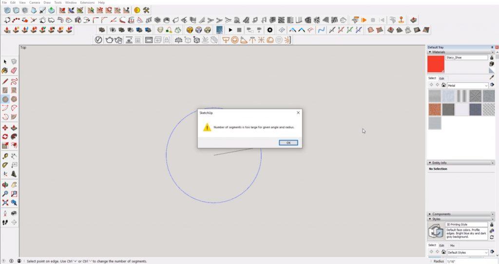 sketchup error message