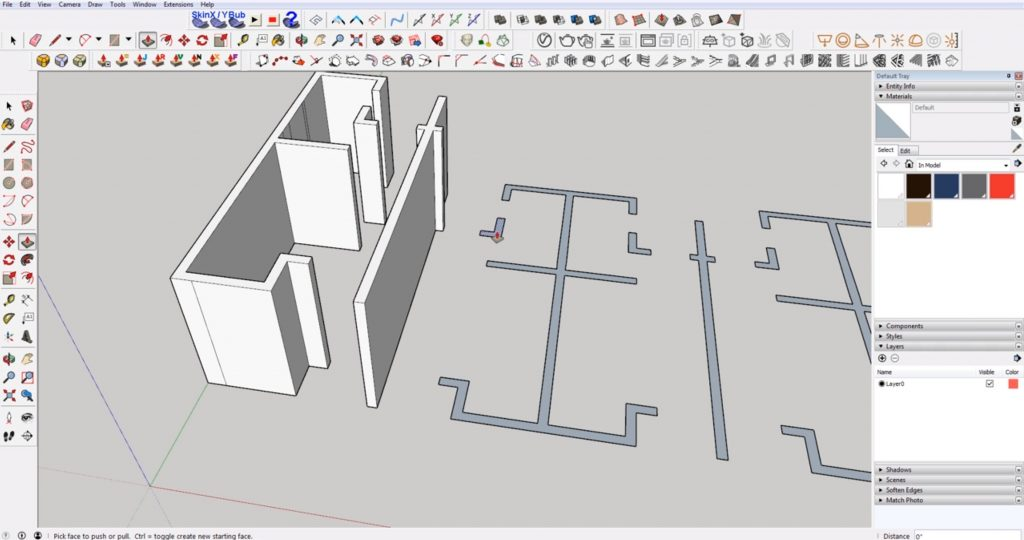 extrude walls from DWG to 3D