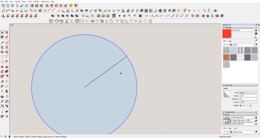 circle created without sketchup error