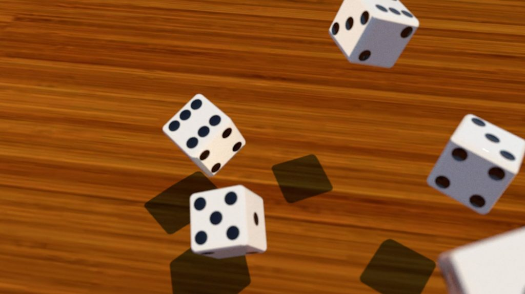 final dice after adding round corners in Sketchup