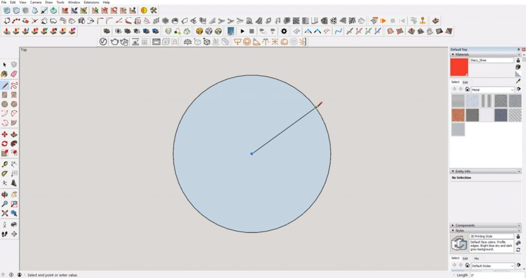measure the radius of sketchup error