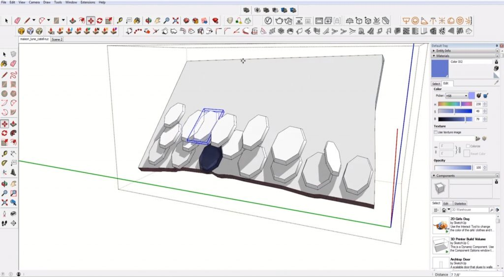 adding roof details to sketchup speed model