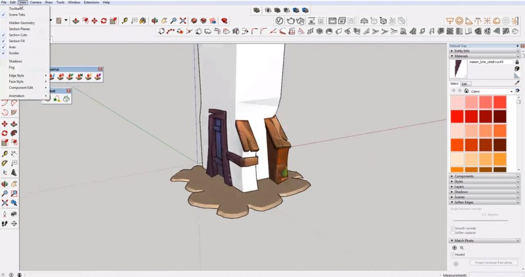 carve out details in sketchup speed model