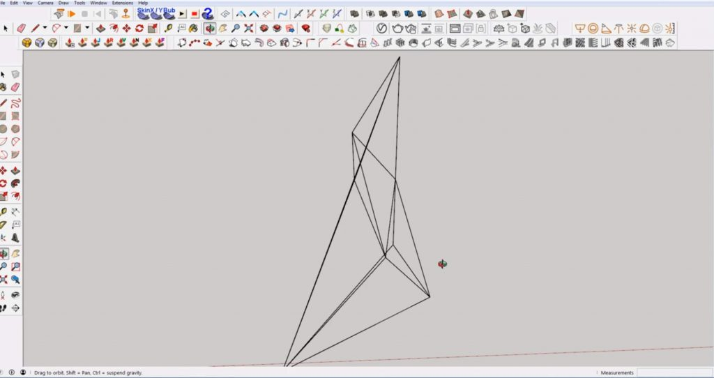 Sketchup create faces for 3D model