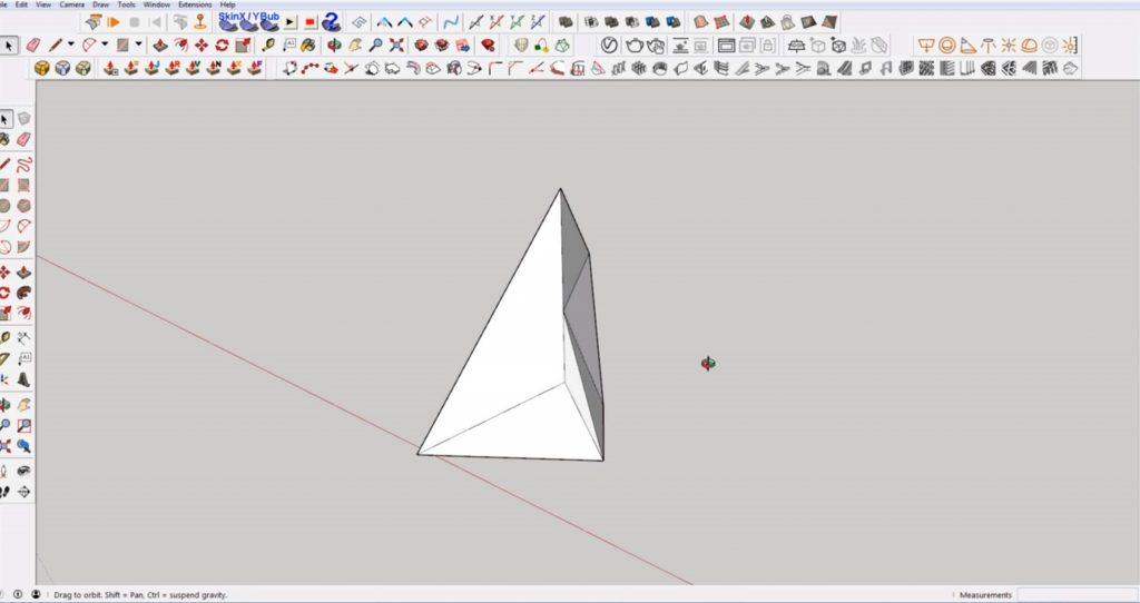 Sketchup create faces plugin for 3D model