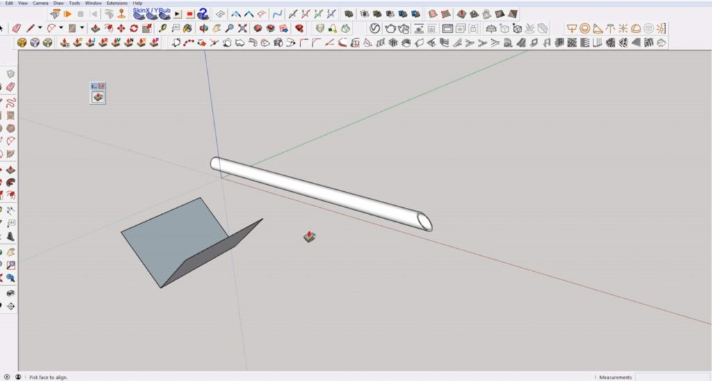 How to Make an Angled Cut in Sketchup | Sketchup Q &A