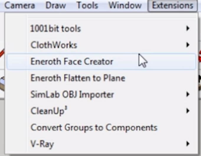 Sketchup create faces extension