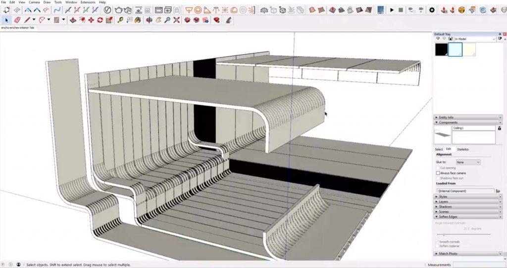 model ceiling panels for Sketchup interior design