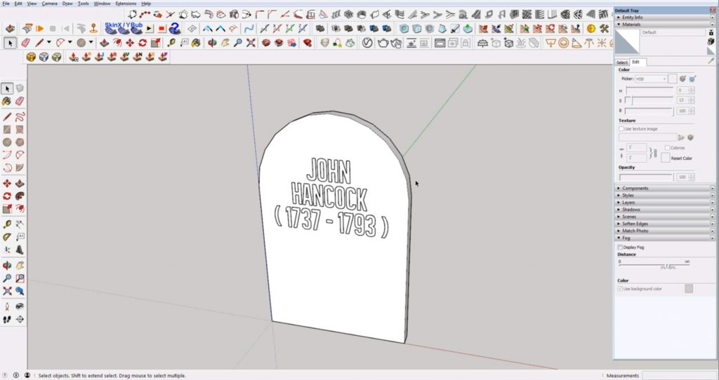 place embedded text on headstone