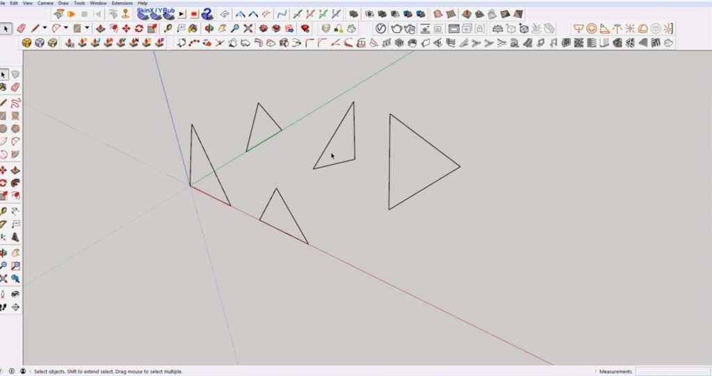 Sketchup create faces for triangles
