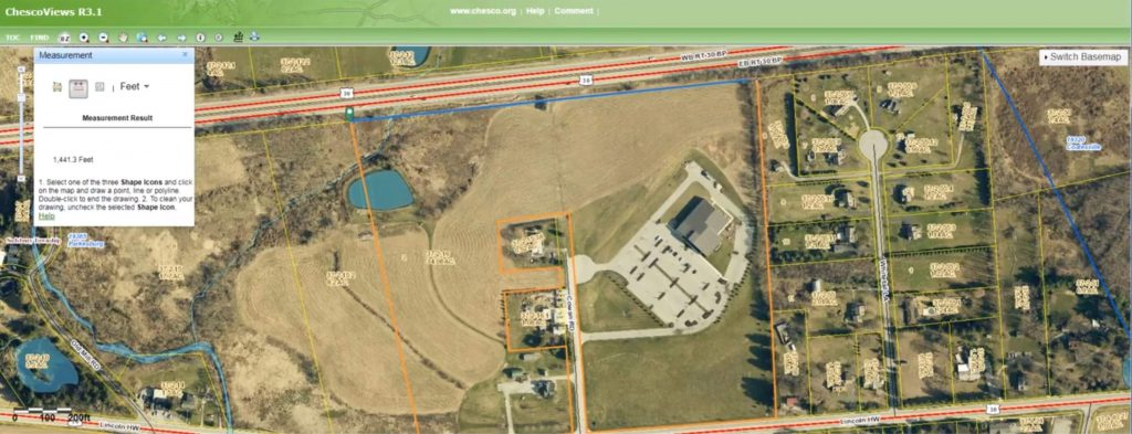 measure property line of site information
