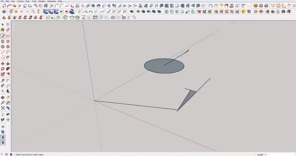 snap in Sketchup to center