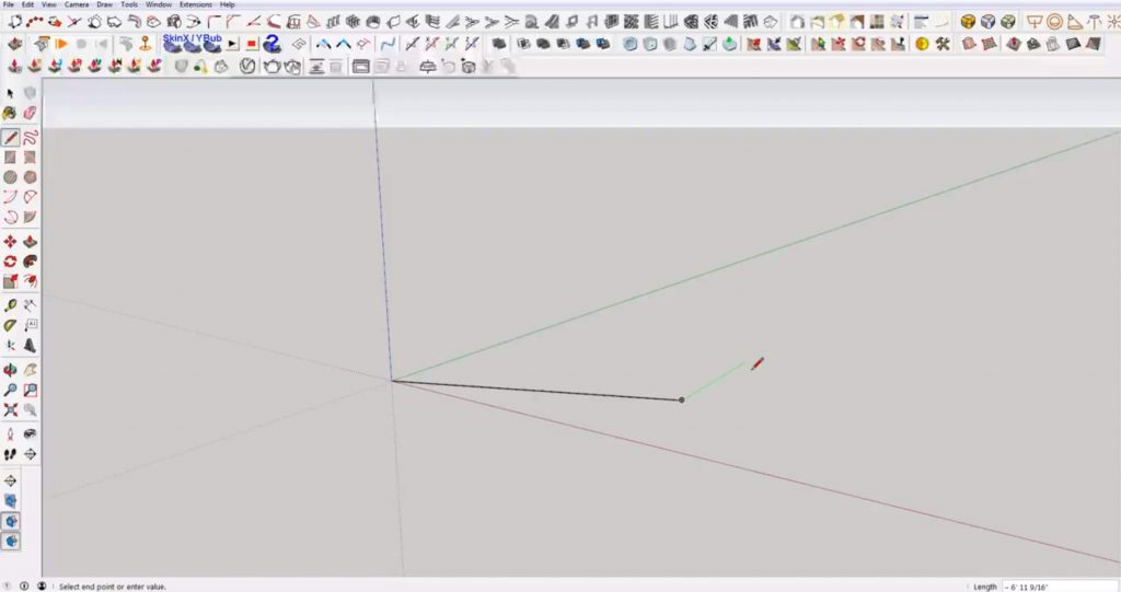 snap in Sketchup to endpoints