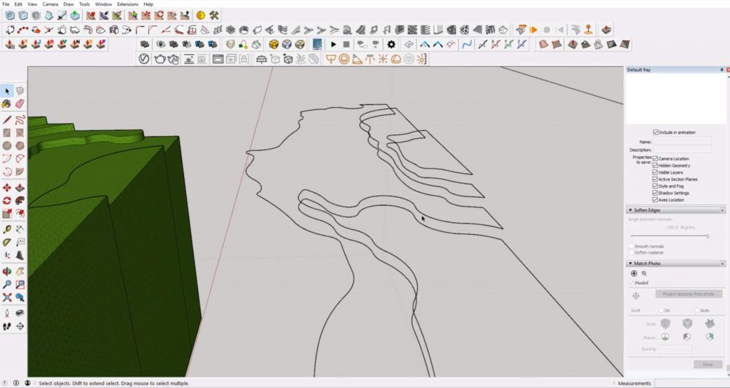delete faces from Sketchup site model