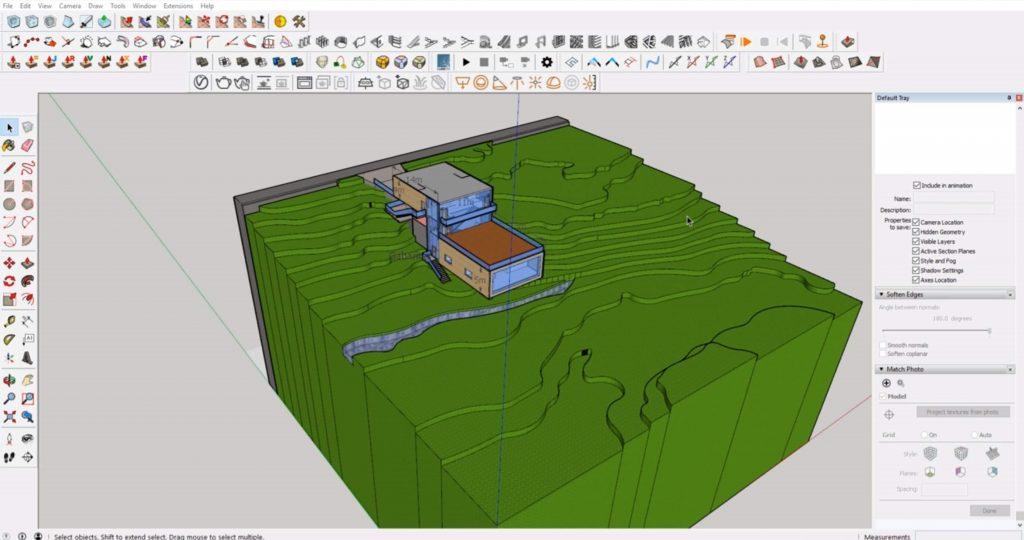 Sketchup Site model 1