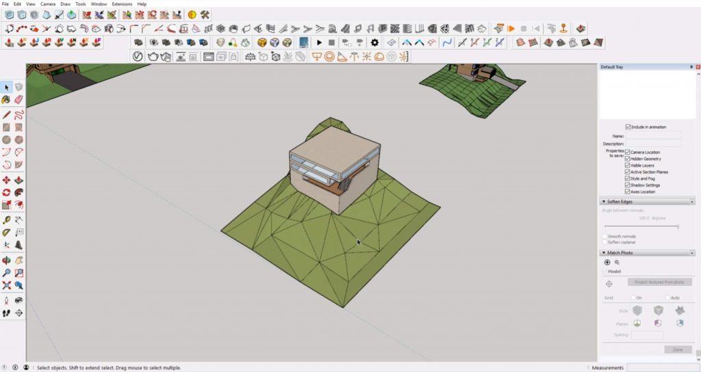 Sketchup site model 3
