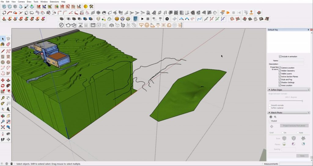 create contours from Sketchup site model