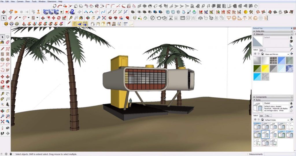 Sketchup mistakes: modeling everything