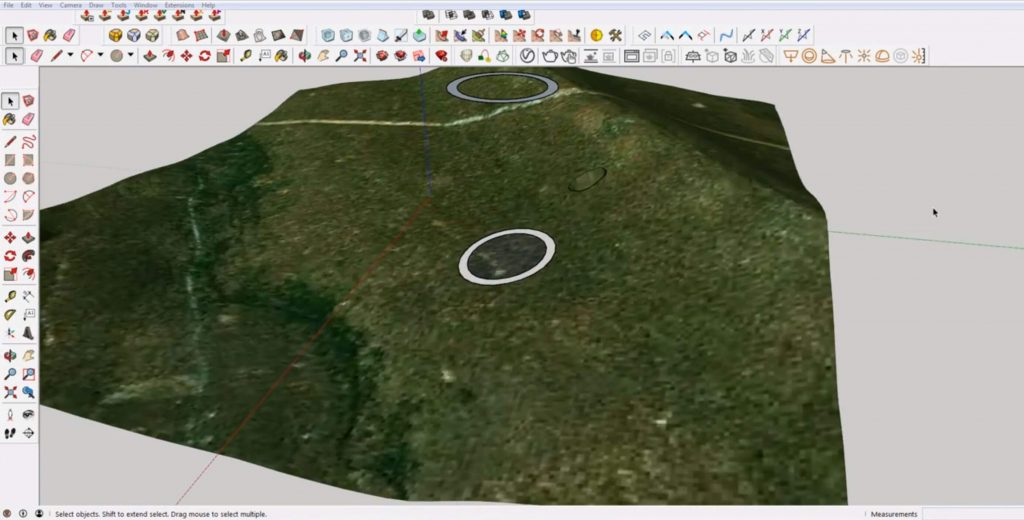 create ring from lines on terrain