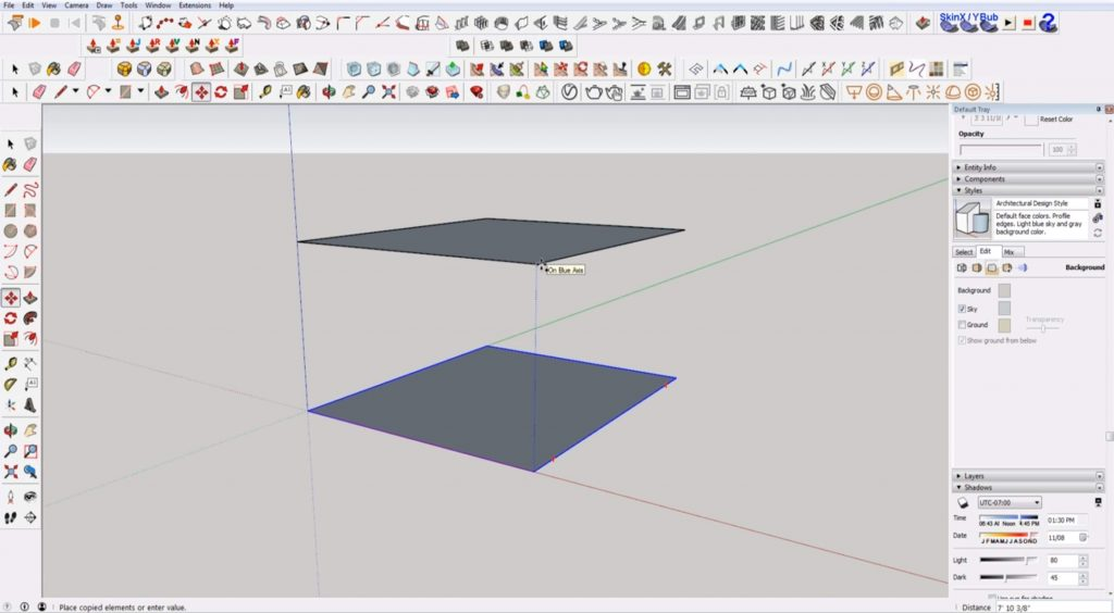 copy floor for stairs in Sketchup