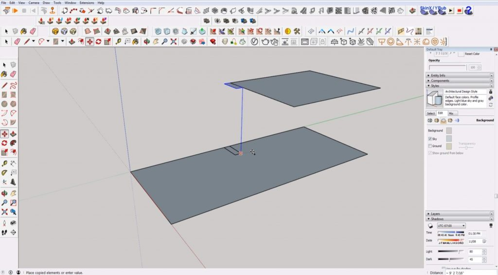 copy tread of stairs in Sketchup