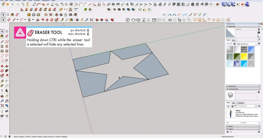 draw 2D in Sketchup star