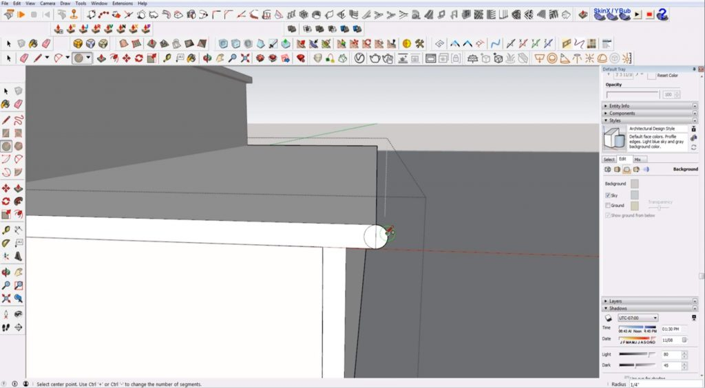 add nosing to stairs in Sketchup