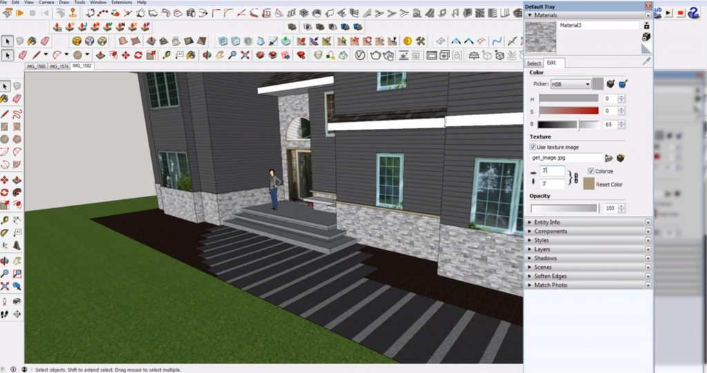 final materials in Sketchup
