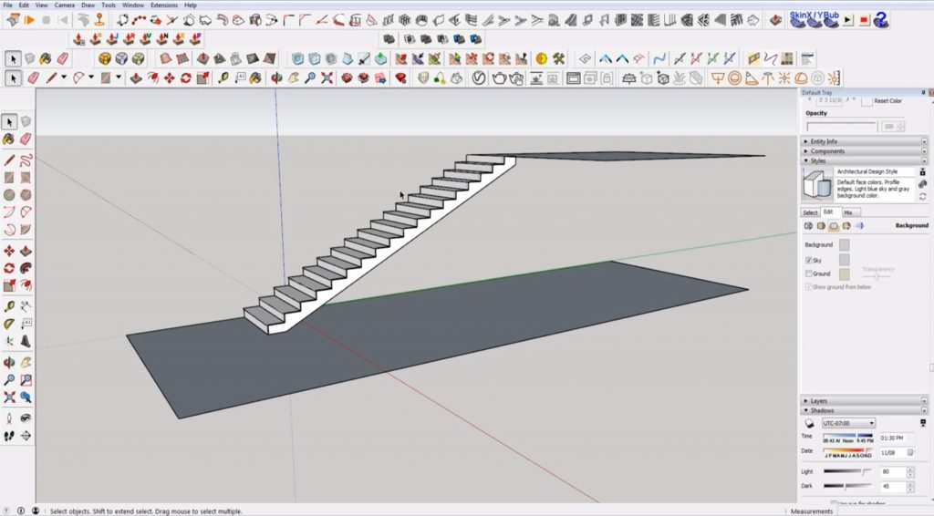 final stairs in Sketchup