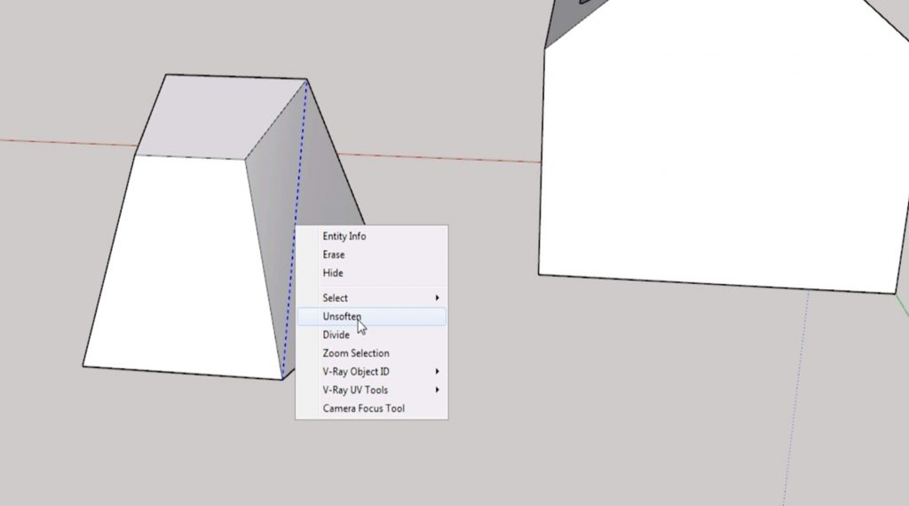 Sketchup for beginners: hidden lines