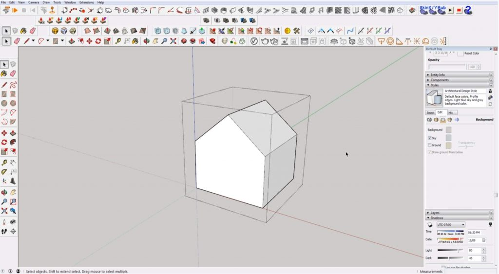 Sketchup for beginners: making a group