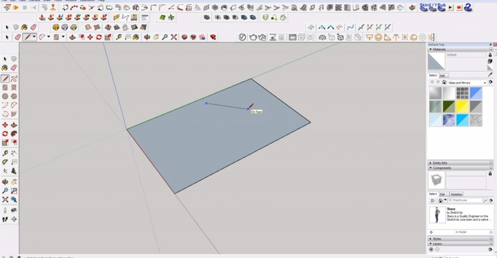 draw 2D in SKetchup rectangle