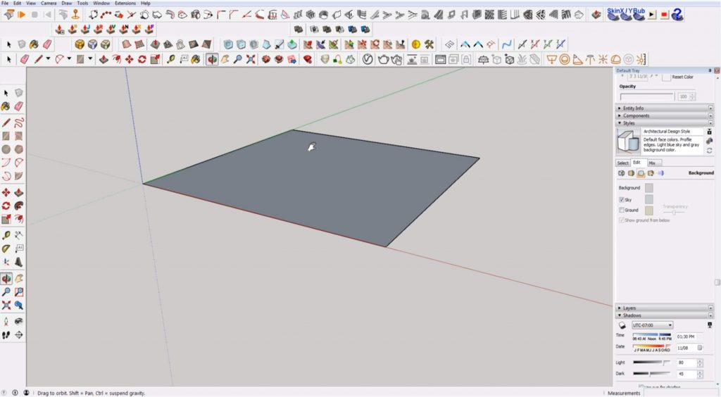 navigating Sketchup for beginners
