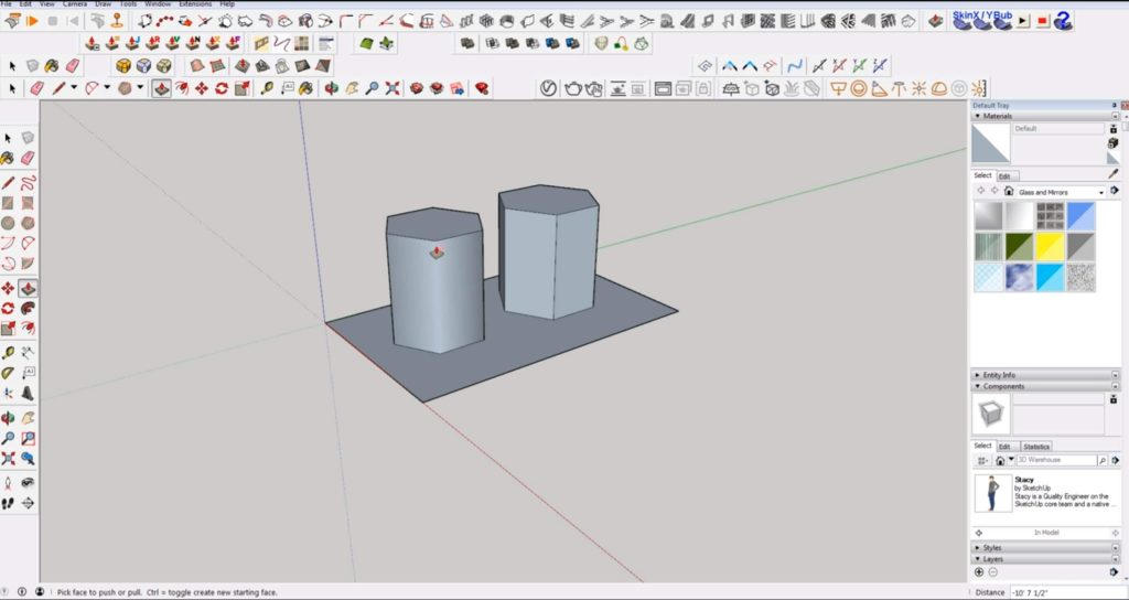 draw 2D in Sketchup polygons