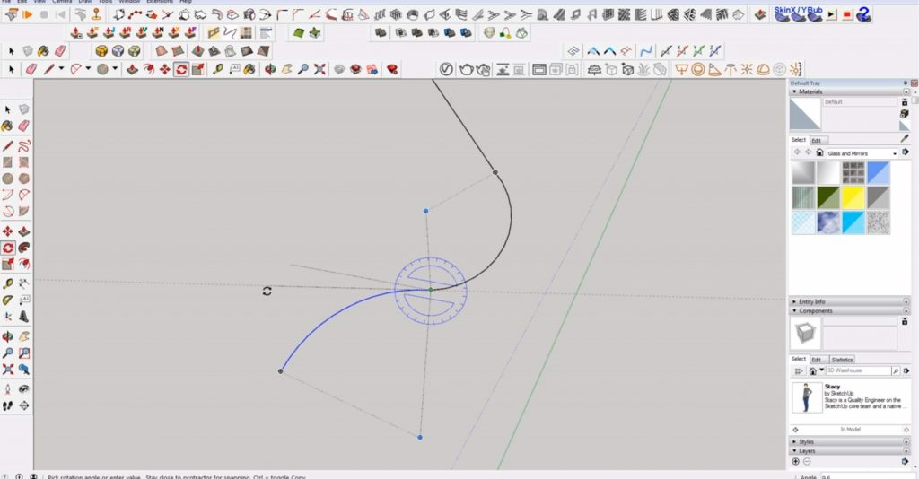 draw 2D in Sketchup arcs