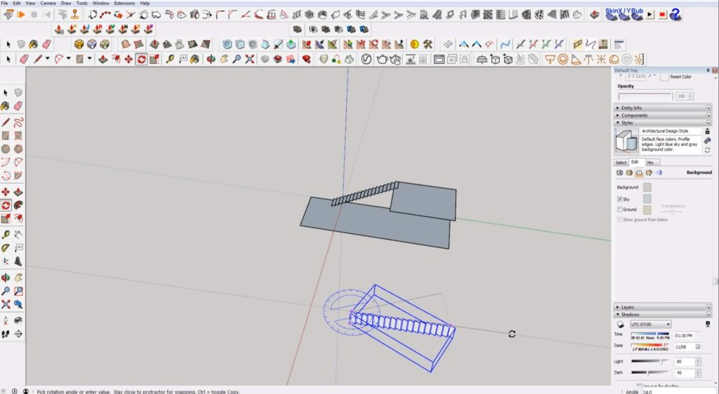 rotate stairs in Sketchup