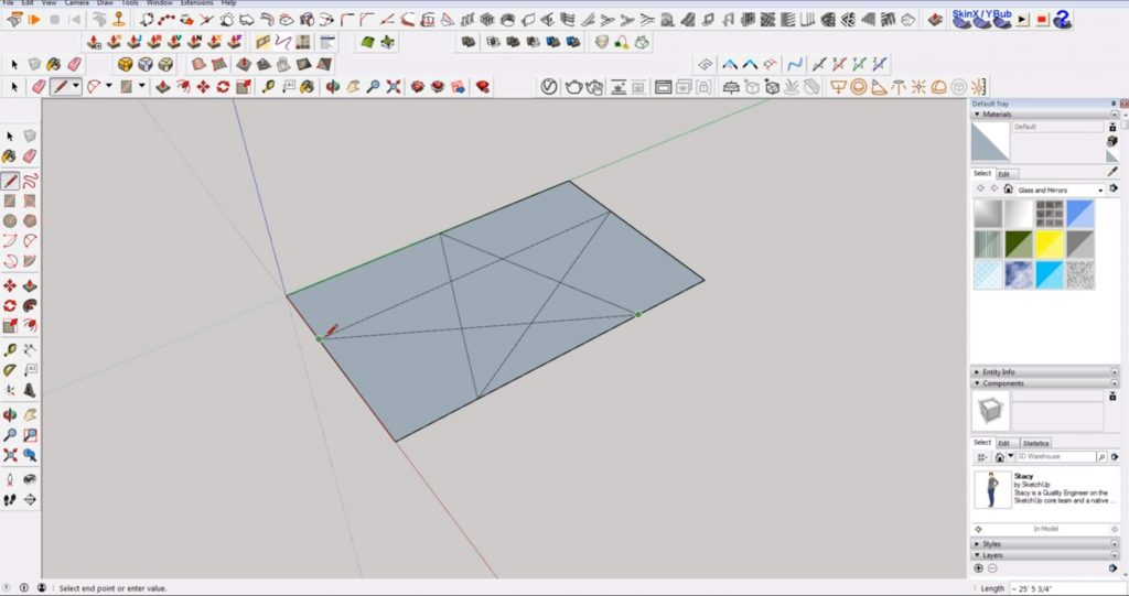 draw 2D in Sketchup on the same plane