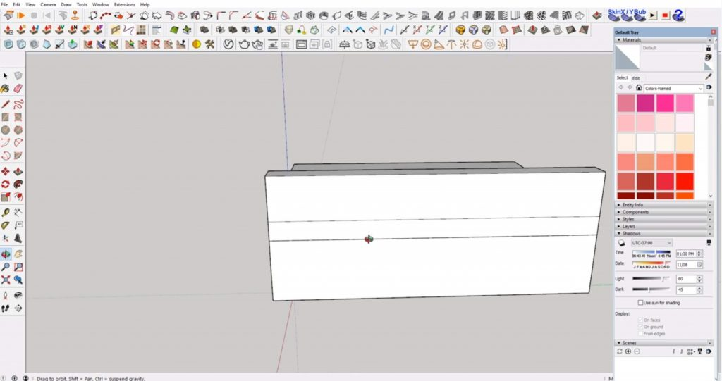 ghosting lines in Sketchup