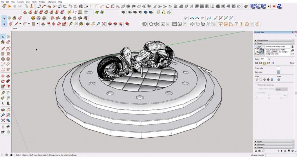add line rendering scene