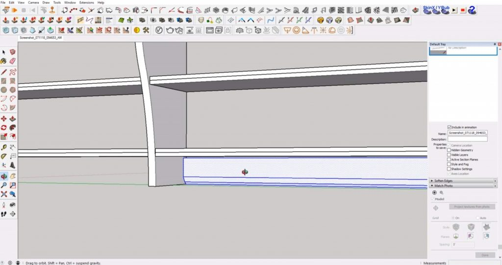 finished back piece of IKEA furniture in Sketchup