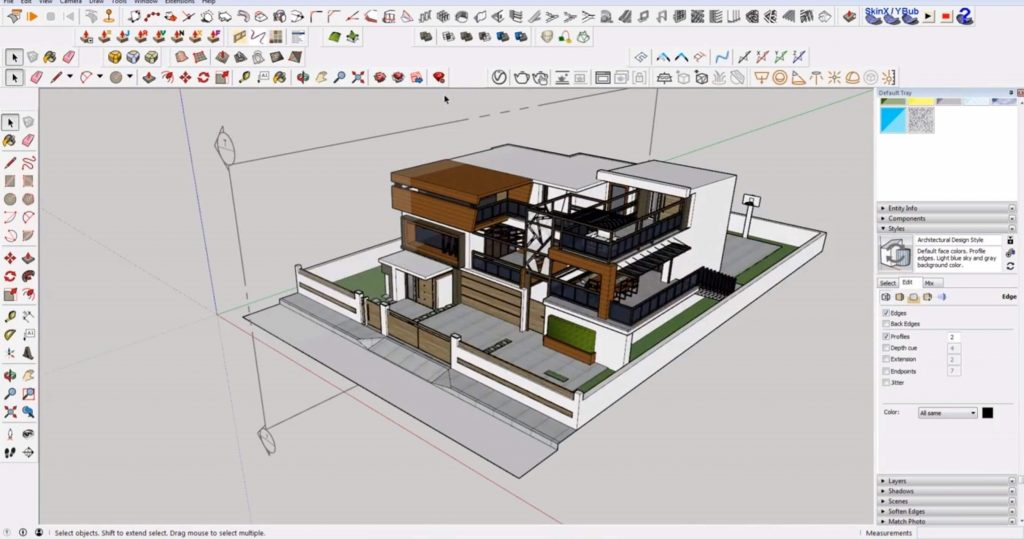 corrected clipping in Sketchup