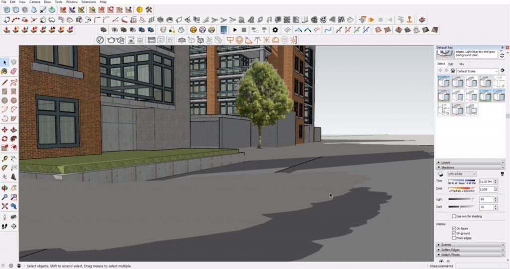 duplicate shadows in Sketchup