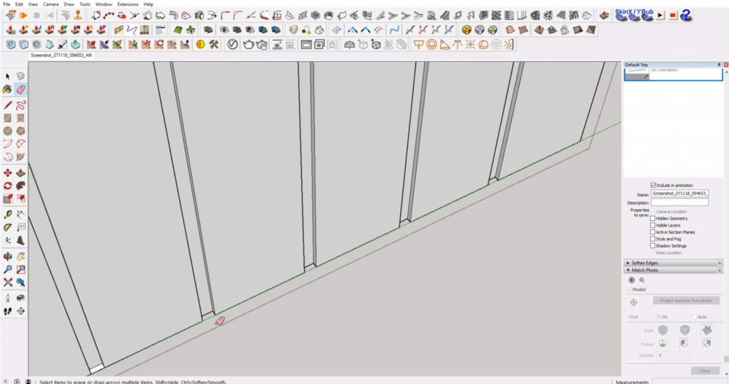 erase faces of IKEA furniture in Sketchup