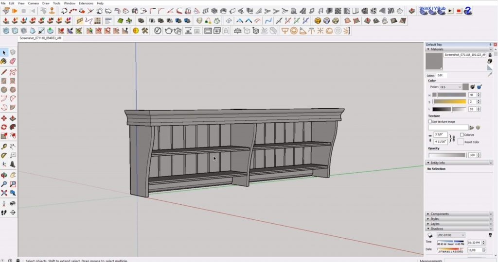 final IKEA furniture in Sketchup