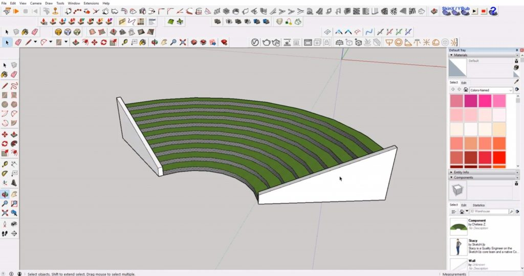final sloped wall in Sketchup