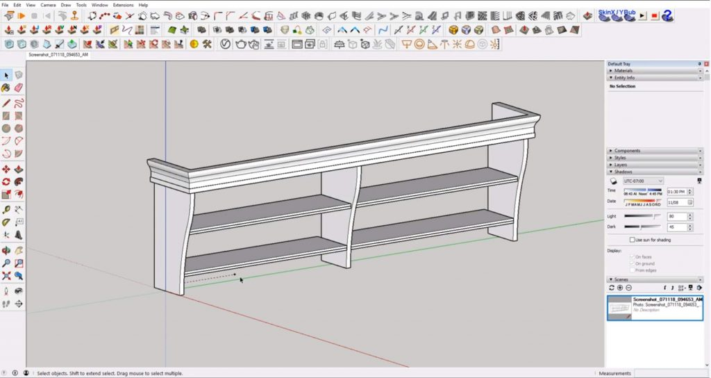 finished molding of IKEA furniture in Sketchup